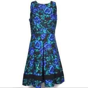 Eliza J Floral Sleeveless Fit & Flare Midi Dress